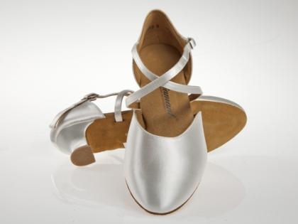 Tanzschuhe Modell 148 112 092 | weiss Satin | Pumps | 4,2cm